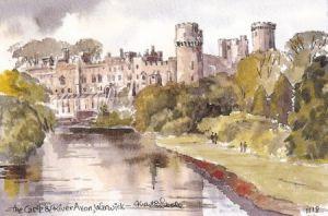 Castle & River Avon, Warwick 1118