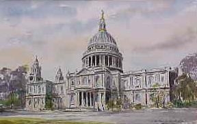 St Paul's Cathedral, Front View 0134