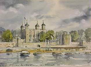Tower of London from the River 1356