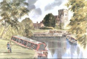 Goring on Thames 1672