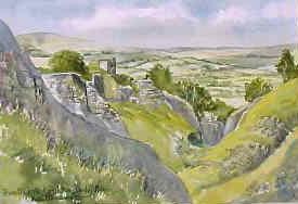 Peveril Castle, Castleton 1743