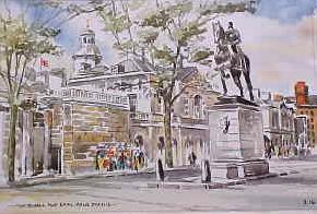 Whitehall and Earl Hague Statue 0214