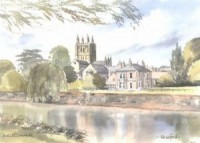 Hereford Cathedral from the River 3102
