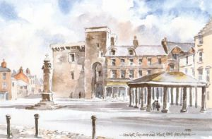 Market Square & Moot Hall, Hexham 0441
