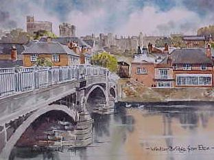 Windsor Bridge from Eton, Berkshire 0455