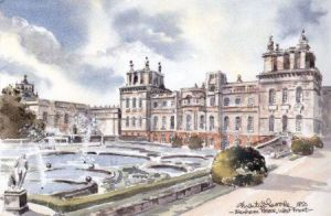 Blenheim Palace, West Front 0500