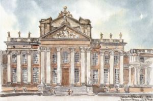 Blenheim Palace, North Front 0501