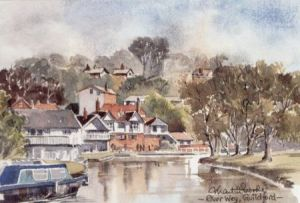 River Wey, Guildford 0811