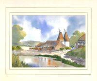 Farm nr Bishopsbourne, Kent, Original Watercolour Painting by Martin Goode