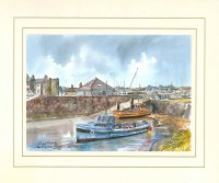 Long Hole Harbour, Bangor, Co Down, N Ireland, Original Watercolour Painting by Martin Goode