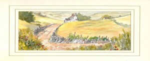 Stone Walls, Original Watercolour Painting by Martin Goode