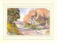 Autumn Lane, Original Watercolour Painting by Martin Goode