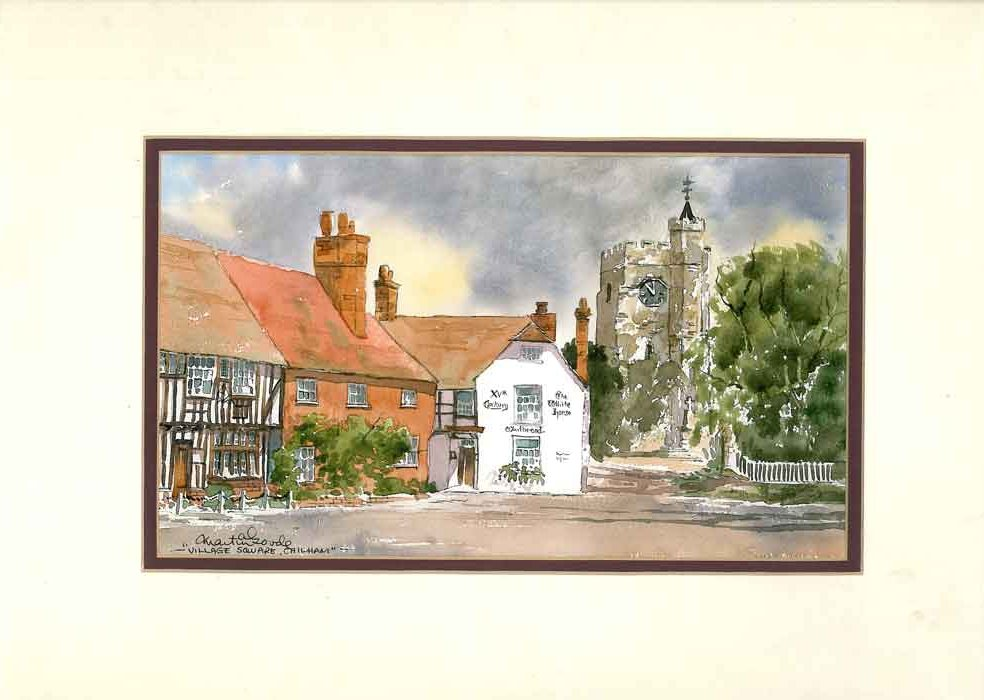 Chilham, Kent, Original Watercolour Painting by Martin Goode