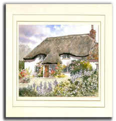 Cottage Garden, Original Watercolour Painting by Martin Goode