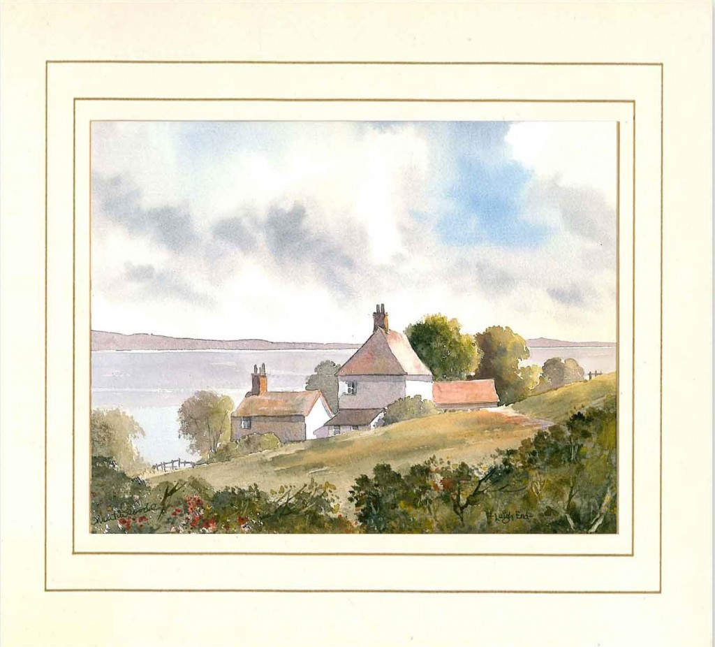 Leigh End, Original Watercolour Painting by Martin Goode
