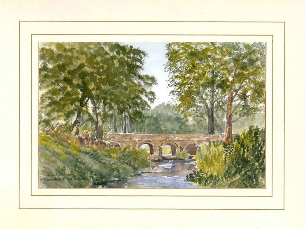 Minnowburn Bridge, Belfast, Original Watercolour Painting by Martin Goode