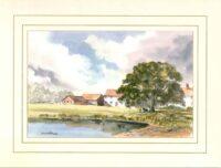 Oak Tree Farm, Original Watercolour Painting by Martin Goode