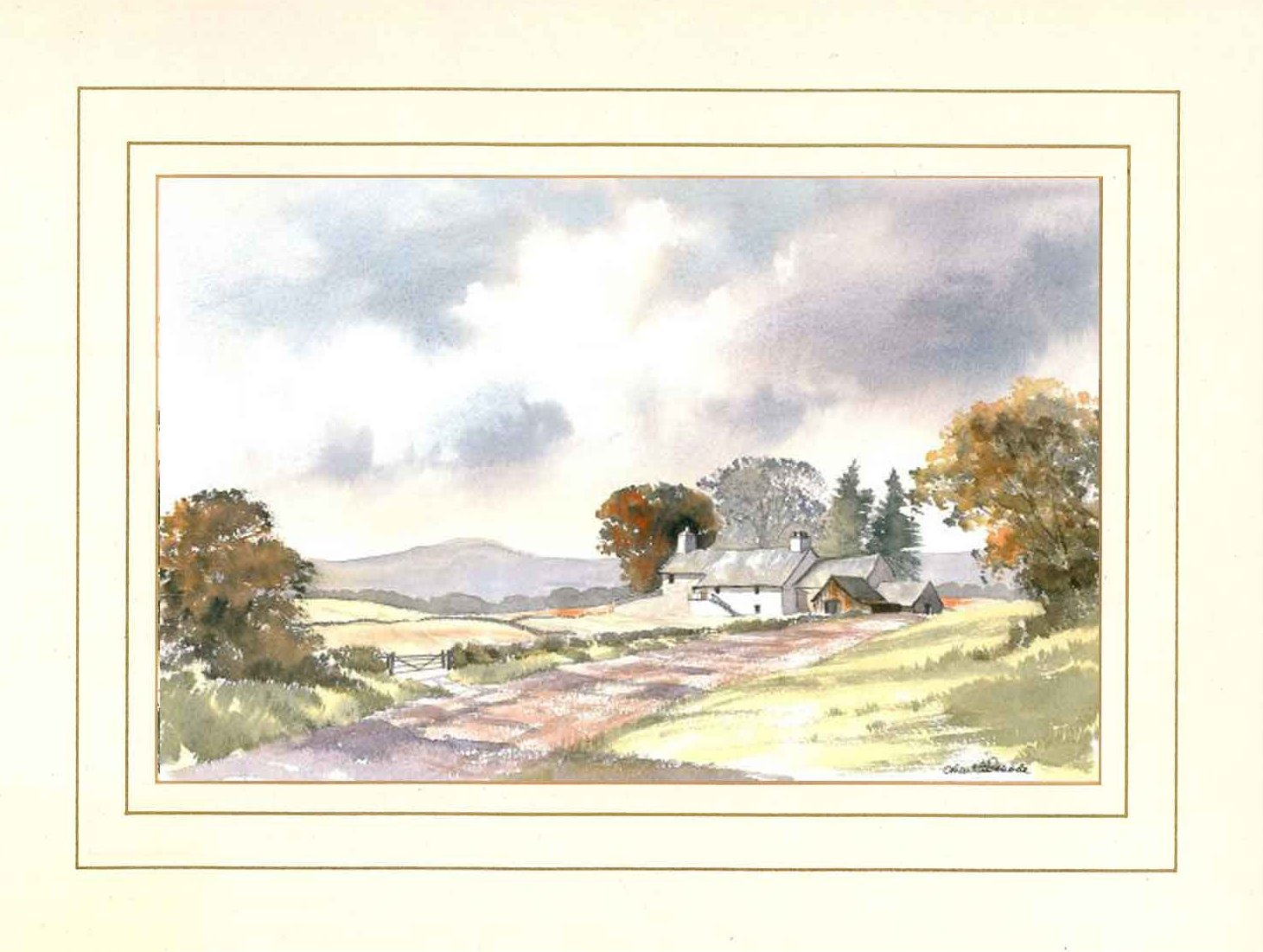 Sawley Moor Farm, Wharfedale, Original Watercolour Painting by Martin Goode