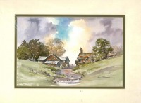 Sweet Hollow Farm, Original Watercolour Painting by Martin Goode