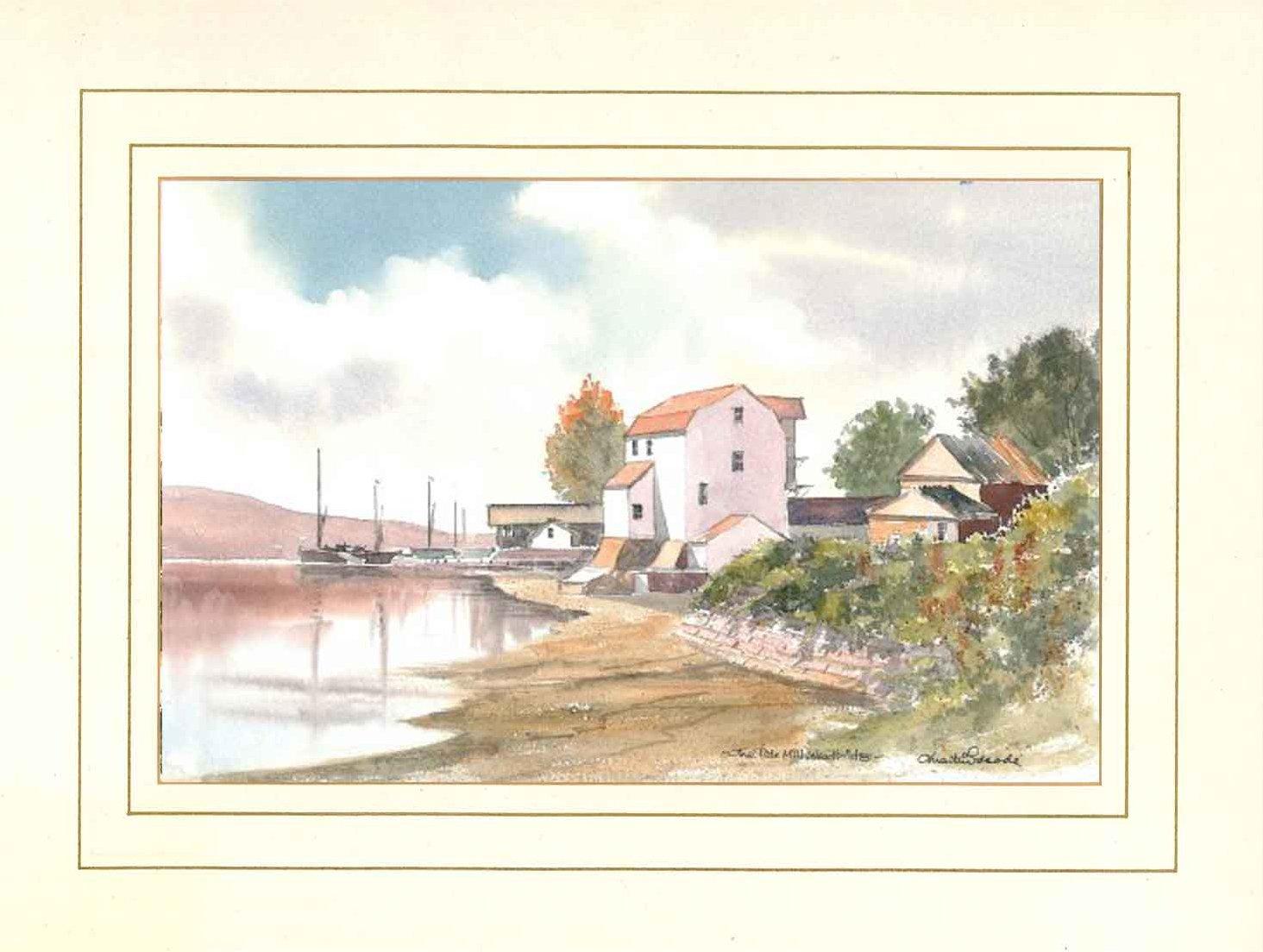 Tide Mill, Woodbridge, Suffolk, Original Watercolour Painting by Martin Goode