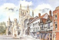 King Street & Hereford Cathedral 0098