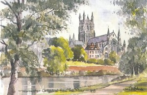 Worcester Cathedral from the River 1273