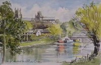 Ely Cathedral from River Ouse 1555