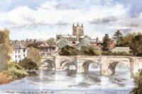 Hereford Cathedral & wye Bridge 0197