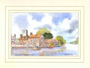 Old Granary, Wareham, Dorset, Original Watercolour Painting by Martin Goode