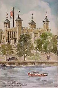 Tower of London from The Thames 0453