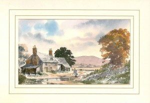 Dunston Farm, Original Watercolour Painting by Martin Goode