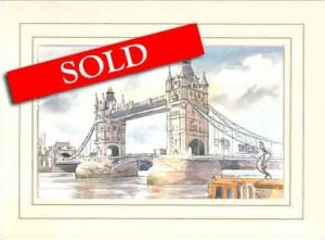 Tower Bridge, Original Watercolour Painting by Martin Goode
