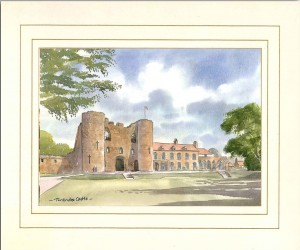 Tonbridge Castle, Original Watercolour Painting by Martin Goode