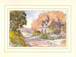 Autumn Lane, Original Watercolour Painting by Martin Goode