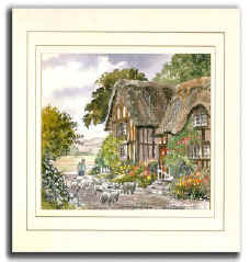 Country Lane, Original Watercolour Painting by Martin Goode