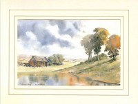 Crofter's Cottage, Original Watercolour Painting by Martin Goode