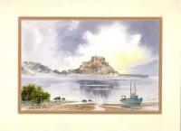 Gorey Castle, Jersey, Original Watercolour Painting by Martin Goode