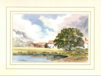 Oak Tree Farm, Original Watercolour Painting by Martin Goode