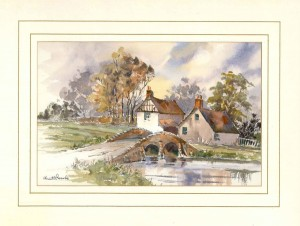 Packhorse Bridge, Original Watercolour Painting by Martin Goode
