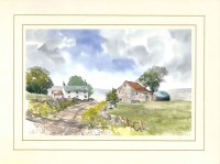Peakland Farm, Original Watercolour Painting by Martin Goode
