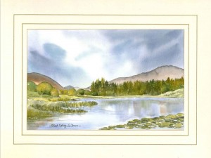 Silent Valley, Mourne Mountains, Co Down, N Ireland, Original Watercolour Painting by Martin Goode