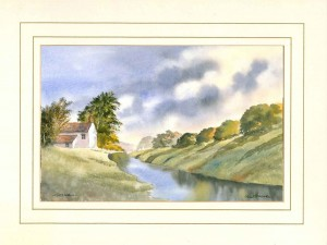 Still Waters, Original Watercolour Painting by Martin Goode