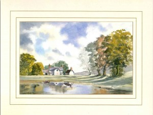 Wethersfield Farm, Original Watercolour Painting by Martin Goode